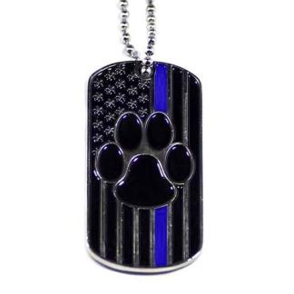Thin Blue Line K9 Dog Tag