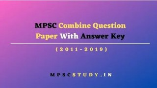 MPSC Combine Question Papers with Answers pdf