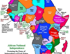 map african independence