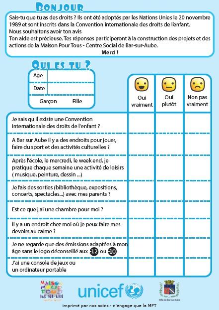 questionnaire droits de l'enfant