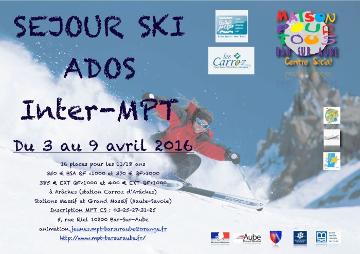 séjour ski 2016