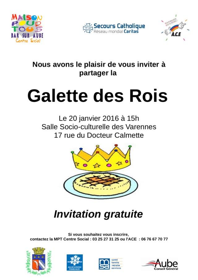Invitation à La Galette Des Rois Maison Pour Tous Centre