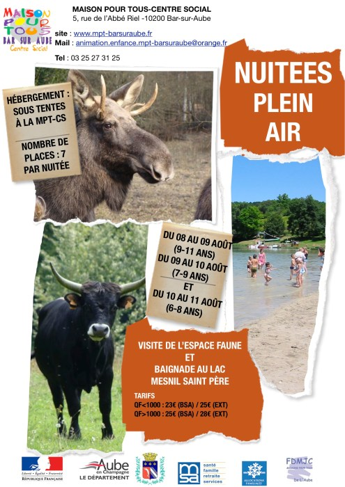 affiches camps août 2016 2