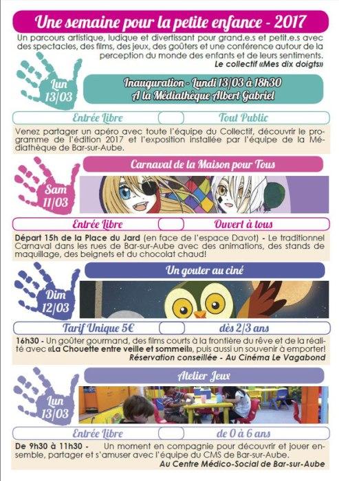 Programme de la semaine pour la petite enfance 2017 for Salon petite enfance 2017