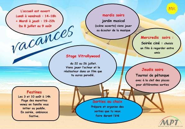 Programme des vacances d'été