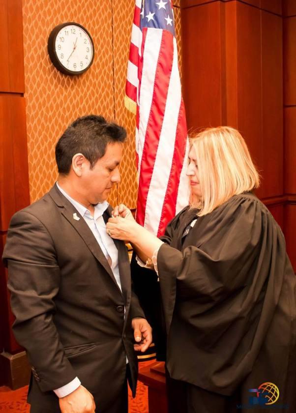 Reconocimiento en el Capitolio gracias a nuestra Honorable Juez de la Corte Suprema de Justicia Carmen Velasquez