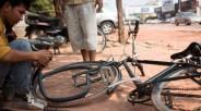 脚踏车爆胎