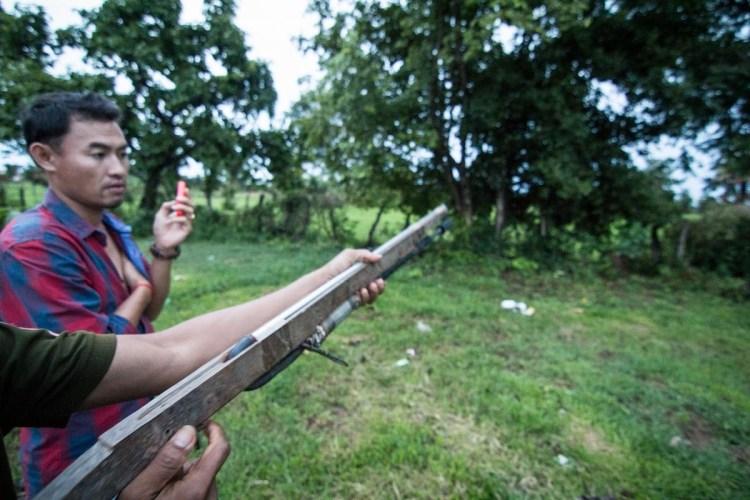 柬埔寨村猎枪
