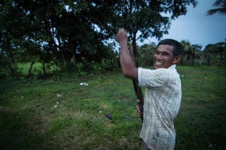 柬埔寨村獵槍