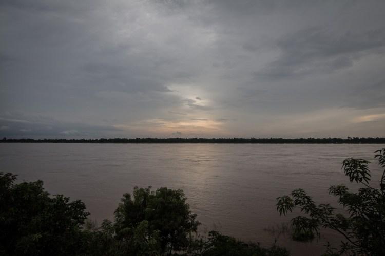 湄公河夕陽
