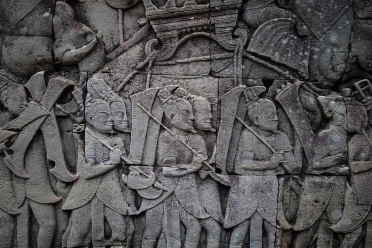 中国宋朝军队浮雕