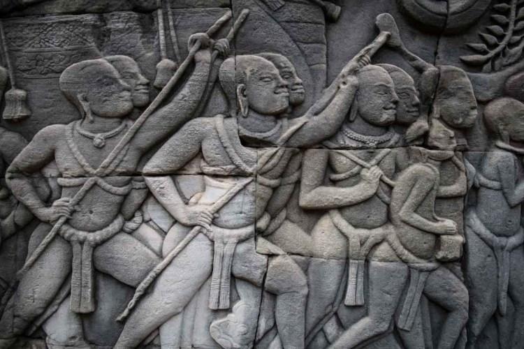 高棉戰士浮雕