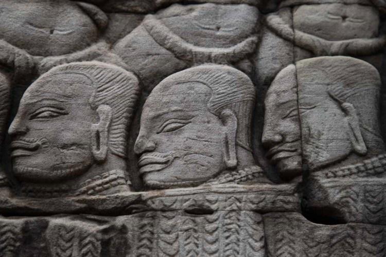 高棉战士浮雕