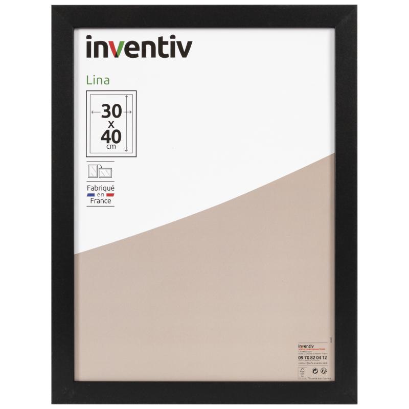 cadre lina noir 30 x 40 cm inventiv mr bricolage
