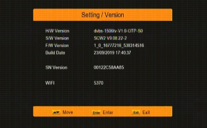 Satellite Receiver With SCW2 Menu and Smart Update Function