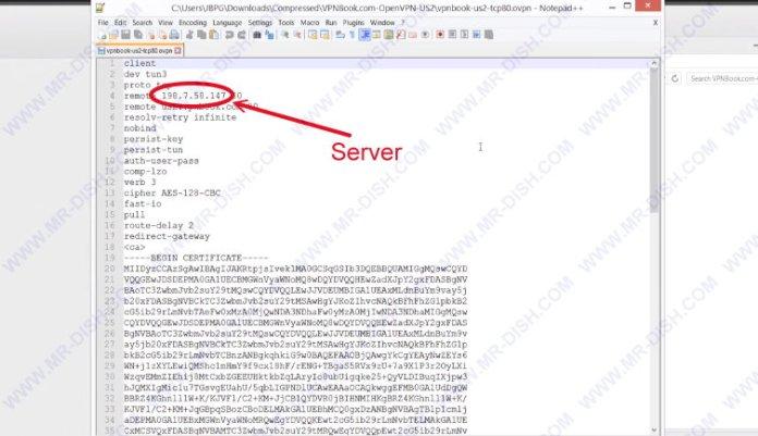 هنا تجد عنوان VPN الخاص بك