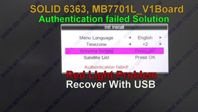 MB7701L_V1 BOARD RECEIVER RED LIGHT RECOVER BY USB