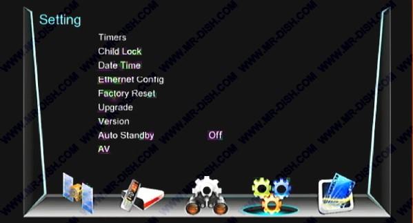 NEOSET i5000 EXTREME 1506T SCB1 Menu