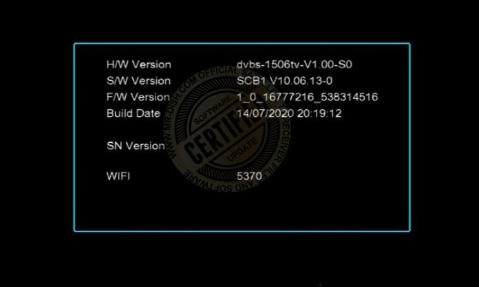 HYPER X6 1506TV RECEIVER NEW SOFTWARE Version Detail