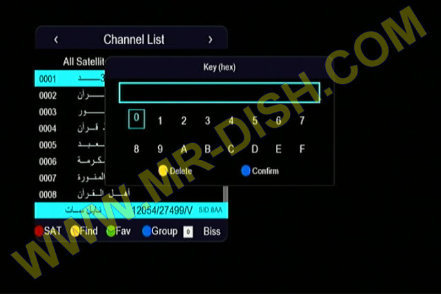 MR X 555 1506TV 4M NEW SOFTWARE Direct Biss Key