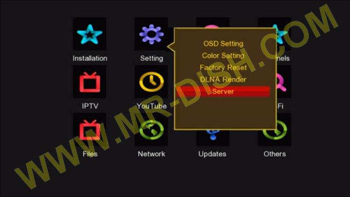 GX6605S HW203 F1 F2 RECEIVER Interface GOLDEN MENU