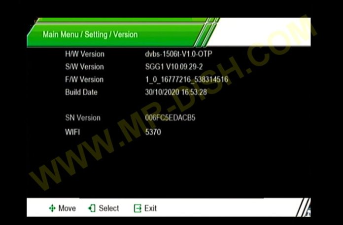 MATRIX ASH S5 1506T SGG1 SOFTWARE VERSION