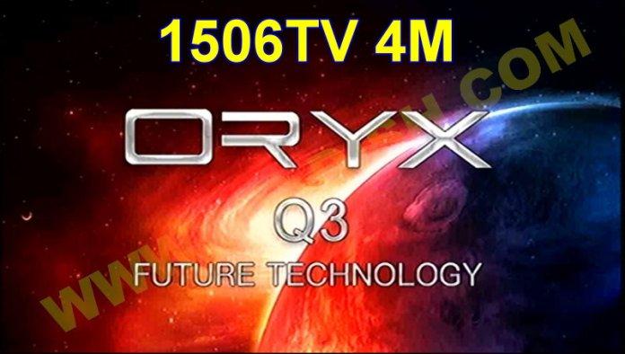 ORYX Q3 1506TV 4M NEW SOFTWARE V11.00.24