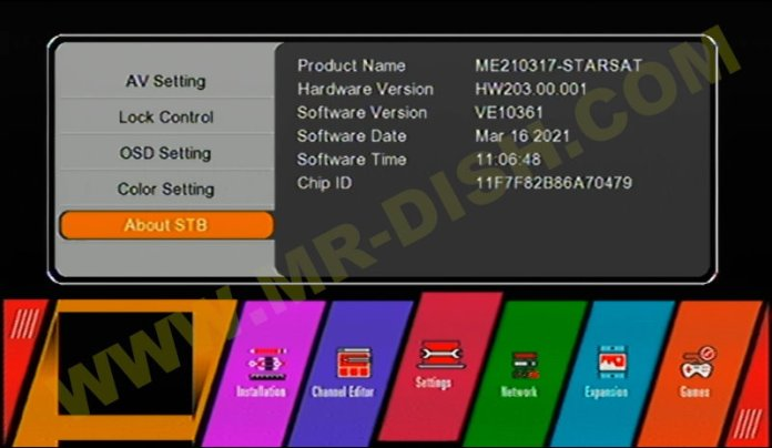 STARSAT GX6605S HW203 U38 NEW SOFTWARE Version