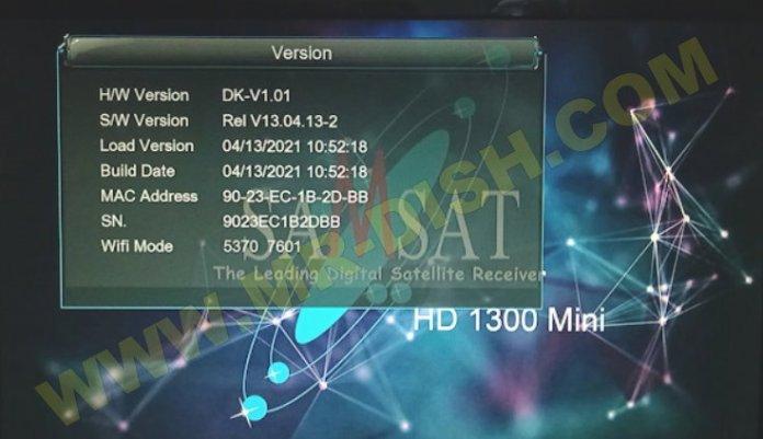 SAMSAT 1300 HD MINI NEW SOFTWARE Version