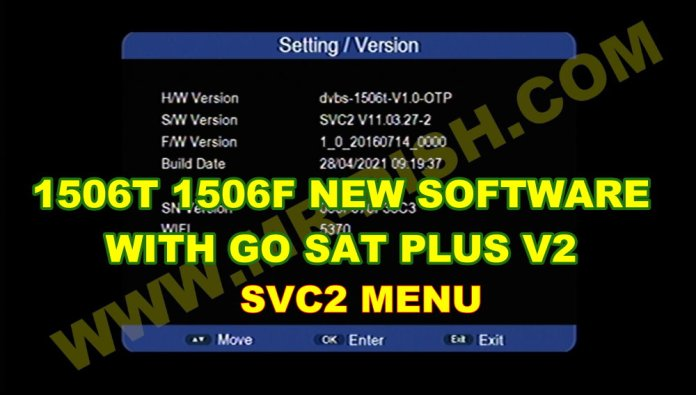 SUNPLUS 1506T 1506F RECEIVER SVC2 NEW SOFTWARE