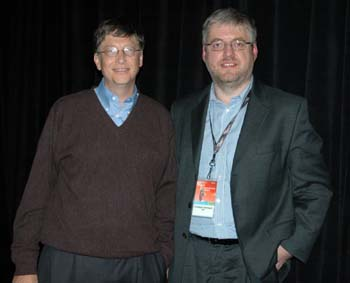 Bill Gates und Christoph Dernbach