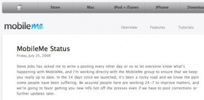 Screenshot MobileMe-Status-Blog