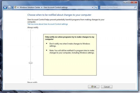 Windows 7: User Account Control