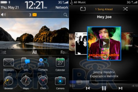 Blackberry OS 6 - Startscreen und Mediaplayer
