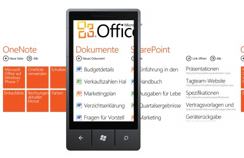 Office-Hub in Windows Phone 7
