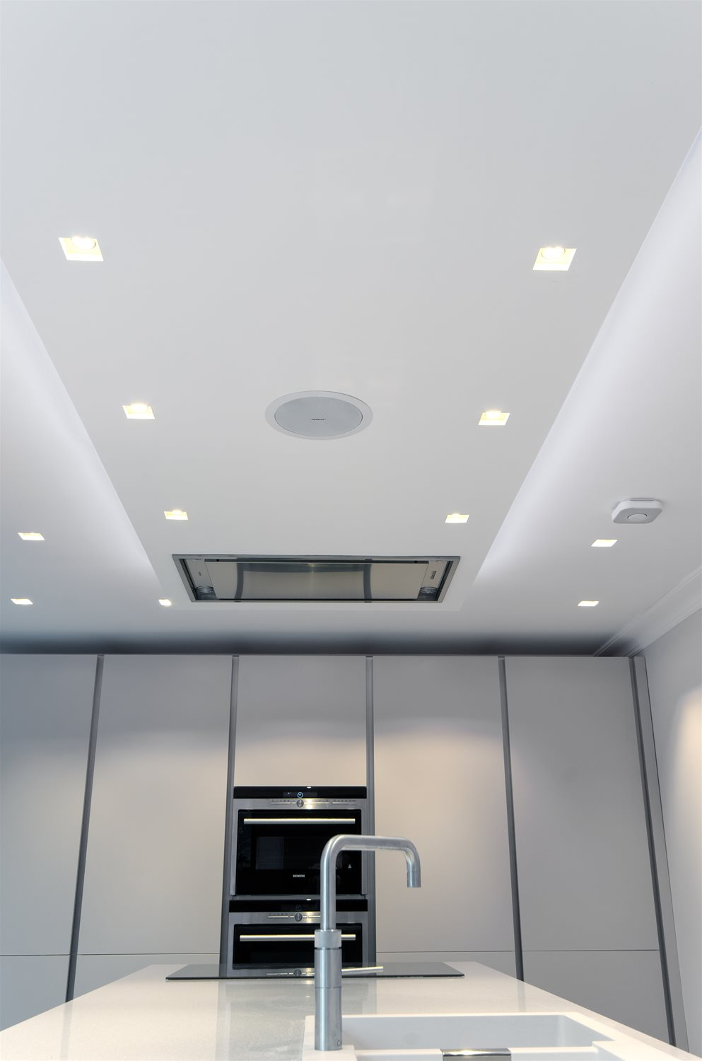 Trimless Double Square Adjustable Downlight 12V Black 100W