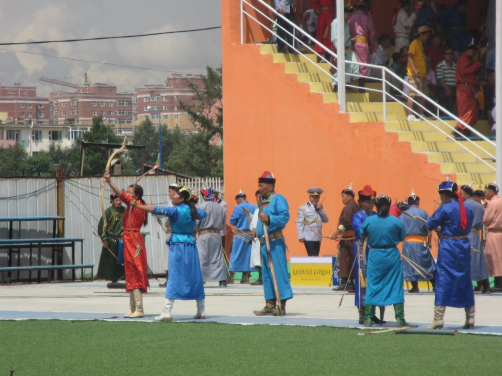 Archery at Naadam Festival in Mongolia