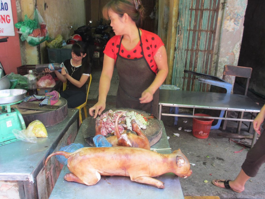 Dog meat. This is actually in Hanoi, Vietnam... But since I mentioned it in this post...