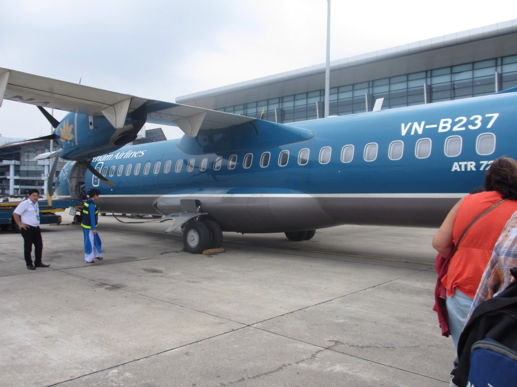 The plane to Laos