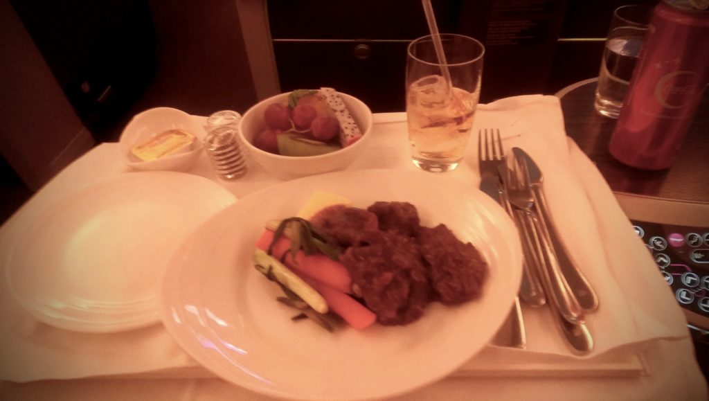 More Food on MAS Business Class