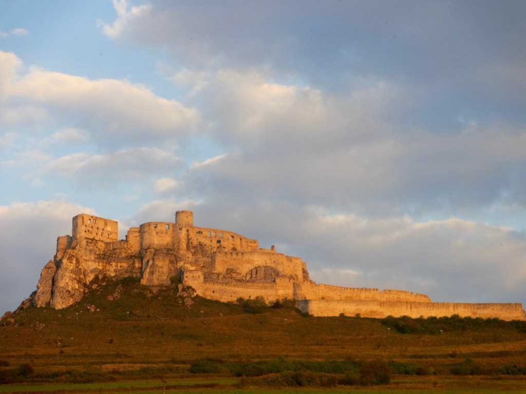 Spis Castle, viewed from my accommodation