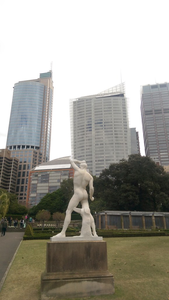 Old Statue, New Buildings