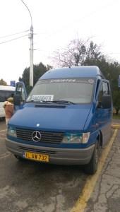 The minibus back to Chisinau