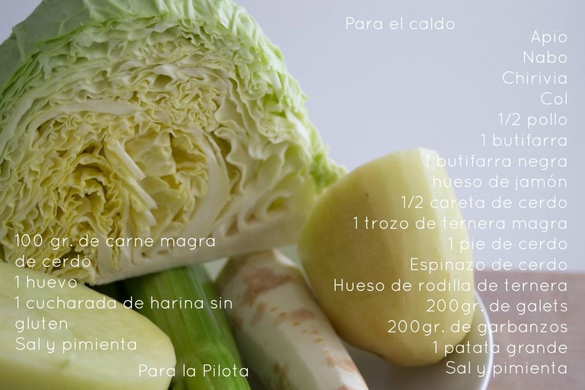 Escudella amb carn d'olla sin gluten by mrandmslemon Ingredientes