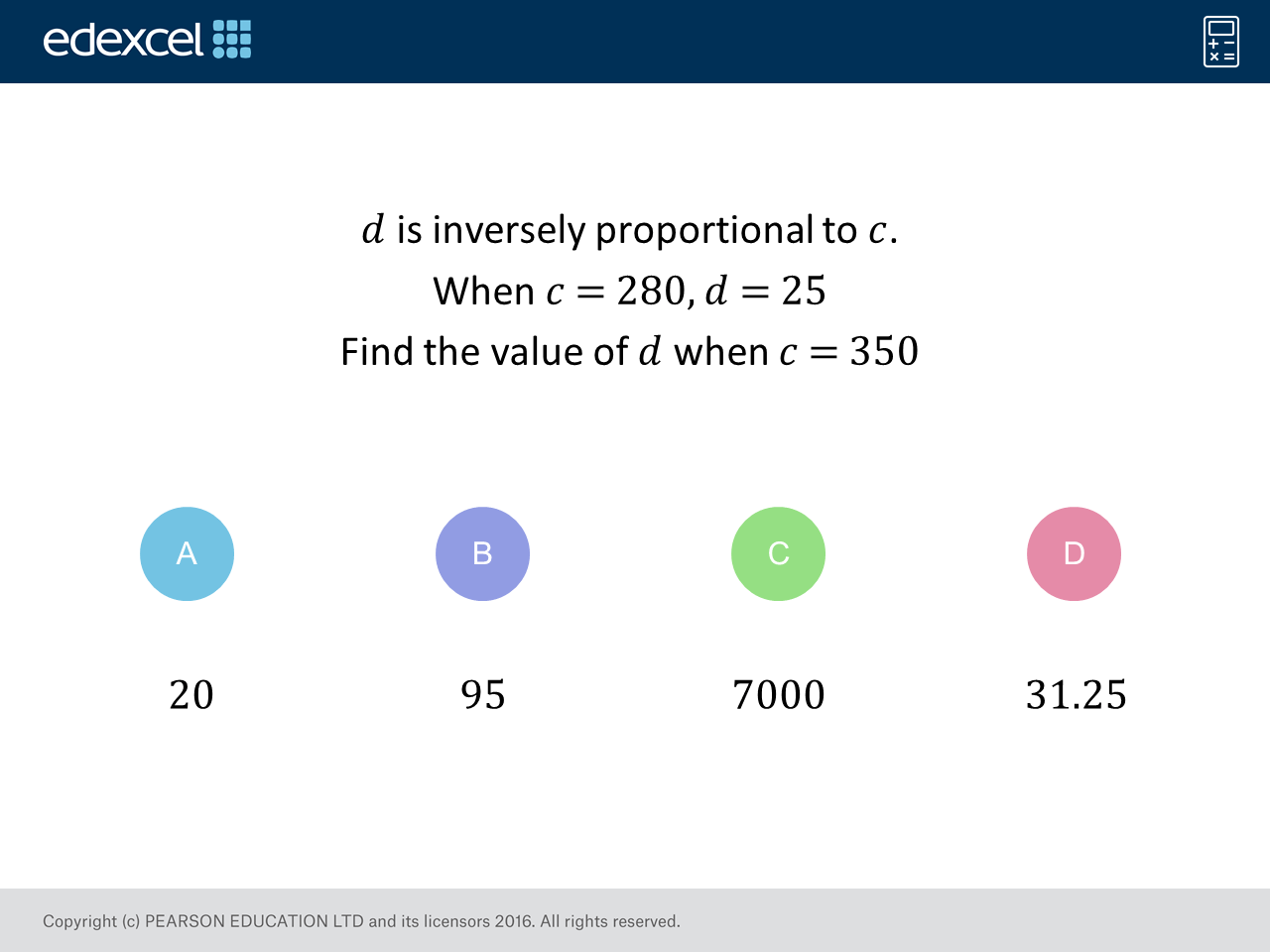 Inverse Proportion Gcse Maths Question Of The Week