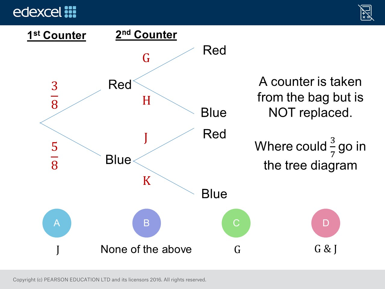 Tree Diagrams Foundation Higher Gcse Maths Question Of