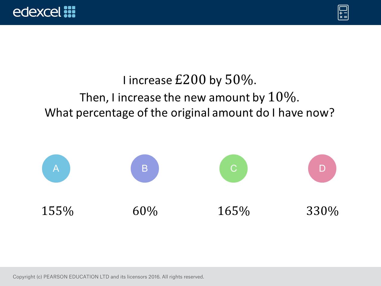 Percentage Increase Foundation Higher Gcse Maths