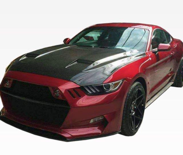 Mustang Mk Carbon Fiber Hood By Vis Fits All  Models