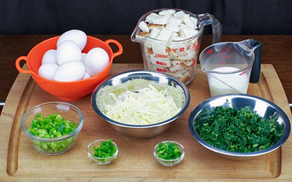 Green Egg Caserole Ingredients