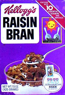 Raisin Bran Kelloggs Kelloggs Raisin Bran Box 3D Card